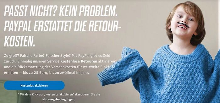 Mit PayPal Service bis zu 300 € im Jahr sparen