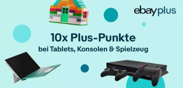 eBay Plus: 10 fach Punkte auf alle Konsolen, Tablet & Spielzeuge   z.B. Nintendo Switch Konsole V2 eff. für 269€