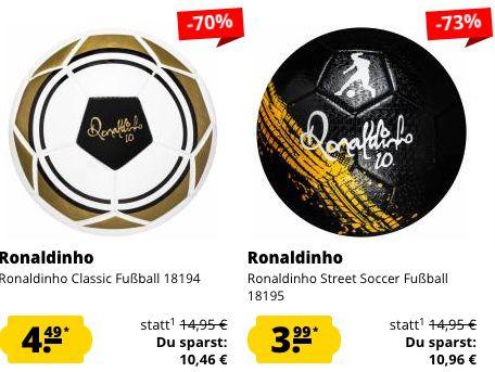 Ronaldinho Sale bei SportSpar   z.B. Federmappe 2,59€ oder Rucksack 6,99€