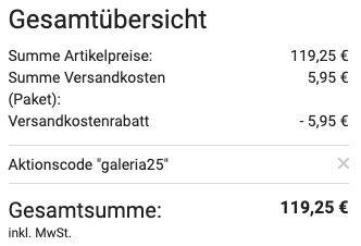 Samsonite 4 Rollen Trolley Gateway 75cm für 119,25€ (statt 239€)