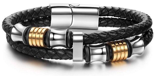 Notting Hill Ghost Rider Herren Leder Armband mit Magnet Verschluss für 9,99€ (statt 24€)