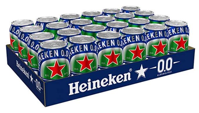 Bier, Cider und Biermischgetränke bei Amazon   z.B. 24x Heineken 0,0% ab 15,99€