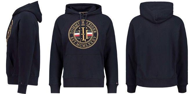 Tommy Hilfiger Kapuzenpullover Icon Hoody in Marine Blau für 101,21€ (statt 145€)