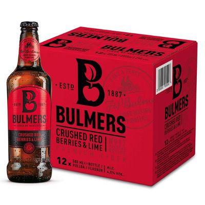 Bulmers Crushed Red Berries & Lime Cider (12x 0,5 Liter) für 18,49€ (statt 24€)