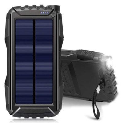 Elzle Solar Power Bank 25000mAh mit doppeltem 2,1 A USB Ausgang und Taschenlampen LED für 21,49€ (statt 43€)