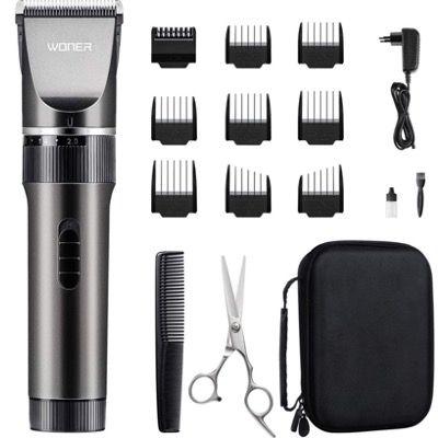 WONER Haarschneidemaschine HC818B mit 2000mAh Akku und Zubehör für 18,49€ (statt 36€)