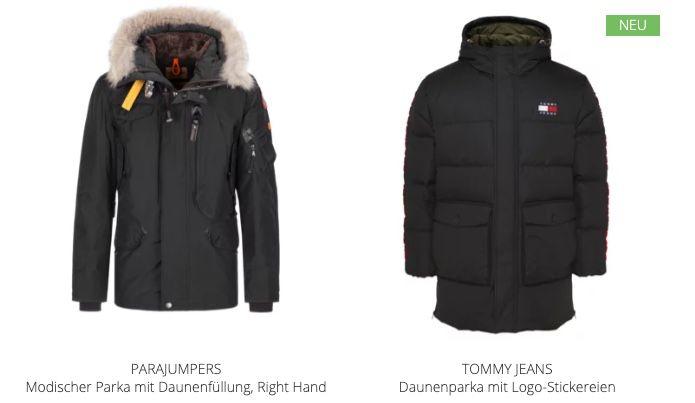Hirmer mit 30% Rabatt auf Winterjacken   z.B. Tommy Jeans Daunenparka für 209€ (statt 299€)