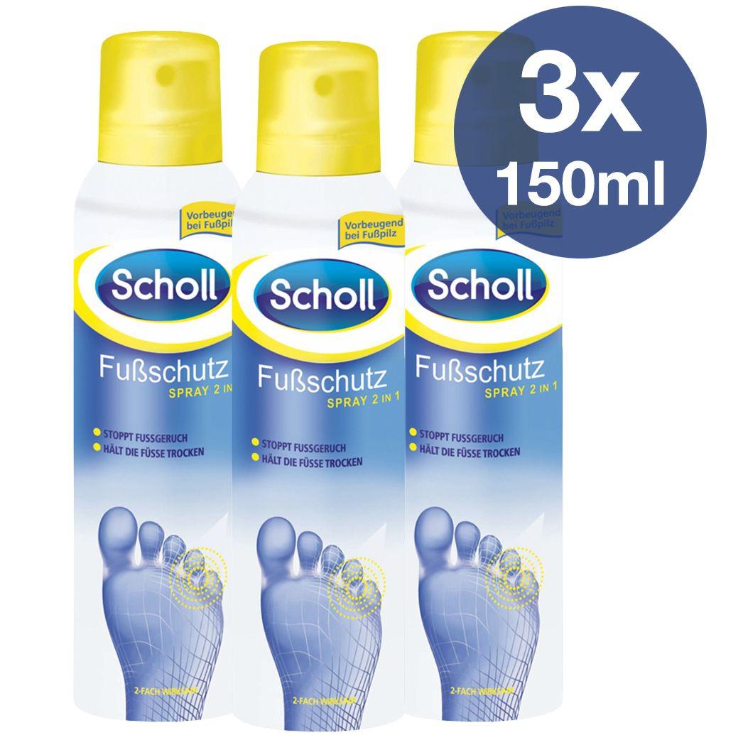 3er Pack Scholl Fussschutz Spray für 9,94€ (statt 15€)