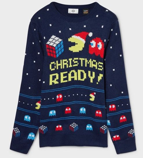 PacMan Weihnachtspullover für 5,81€   L, XL, XXL