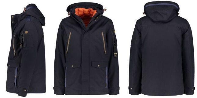 PME Legend Hooded Jacket Course Twill Wiber in Navyblau für 269,99€ (statt 320€)