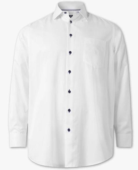 Weißes Hemd mit Kentkragen in 3XL bis 5XL für nur 7,99€