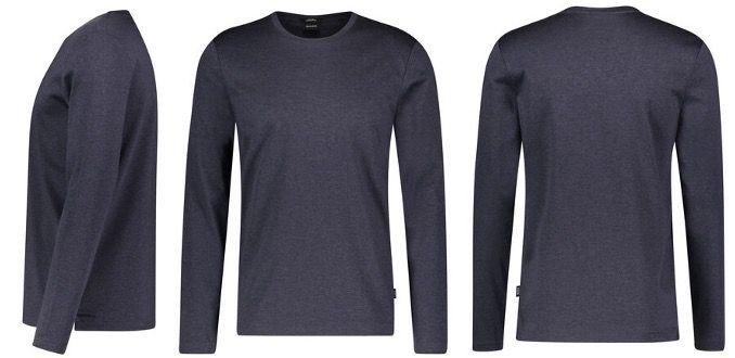 BOSS Herren Langarmshirt Tenision aus Baumwolle in Marineblau für 73,76€ (statt 90€)