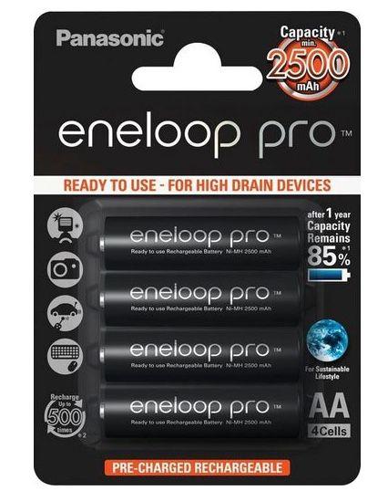 4er Pack Panasonic eneloop Pro AA mit je 2.500 mAh für 12,90€ (statt 18€)