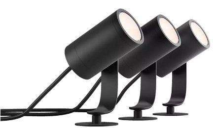 Philips Hue LED Gartenspot Lily 4er Basis Set in Schwarz für 264,49€ (statt 338€)
