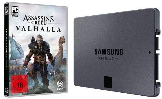 Assassins Creed Valhalla (PC) + Samsung 870 QVO 1TB SSD ab 99€ (statt 132€)