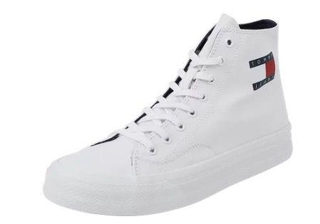 Tommy Jeans High Top Sneaker aus Textil in Weiß für 44,99€ (statt 59€)