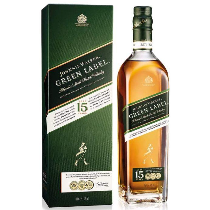 Johnnie Walker Green Label + 2 Gläser für 36,90€ (statt 43€)