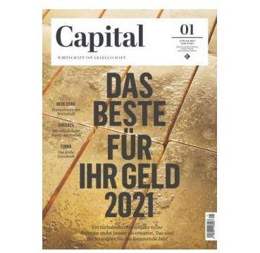 Jahresabo der Finanz Zeitschrift CAPITAL für 106,80€   Prämie z.B. 90€ Amazon Gutschein