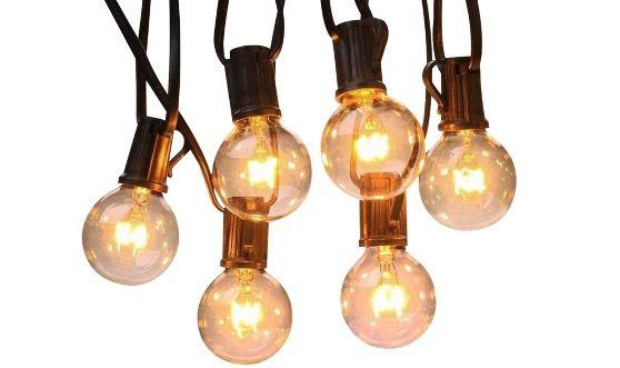 SHONCO Lichterkette 7,6 Meter IP44 wasserdicht mit Glühbirne und Stecker für 17,99€ (statt 30€)
