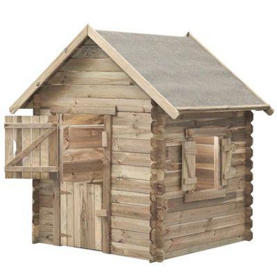 SwingKing Spielhaus Louise 160x120x120cm mit 10cm Dachüberstand für 155,96€ (statt 319€)