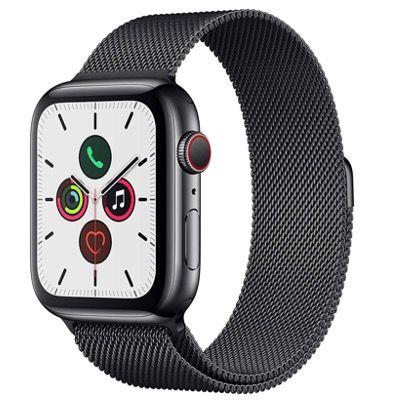 Apple Watch Series 5 GPS + LTE 44mm in Edelstahl mit Milanese Loop für 505,37€ (statt 665€)