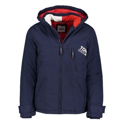 Tommy Jeans Herren Jacke Solid Graphic in Marineblau ab 116,72€ (statt 150€)