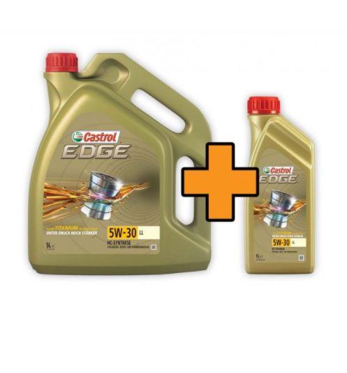 6 Liter Castrol EDGE Titanium FST 5W-30 LL Motoröl für 39,99€ (statt 48€)