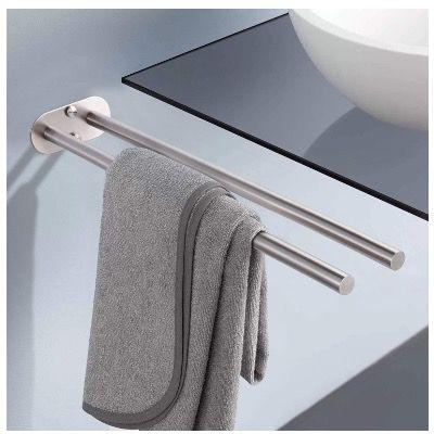 Dalmo DBTH02SR Handtuchhalter 45cm zweiarmig aus Edelstahl für 7,99€ (statt 21€)
