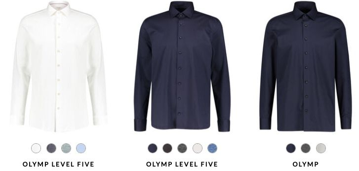 20% Rabatt auf Olymp Hemden + 5€ Gutschein ab 60€   z.B. 2x Modern Fit Langarm für 60,64€ (statt 79€)