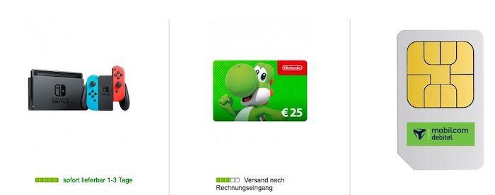 Nintendo Switch (neue Edition) für 49€ + 25€ eShop Guthaben + Telekom Allnet Flat mit 6GB LTE für 14,99€mtl.