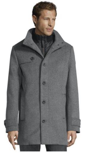 Tom Tailor Wollmantel mit gesteppter Unterjacke bis 2XL für 74,99€ (statt 101€)