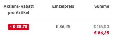 Glattsand Parka atmungsaktiv und wasserabweisend in Schwarz für 86,25€ (statt 195€)