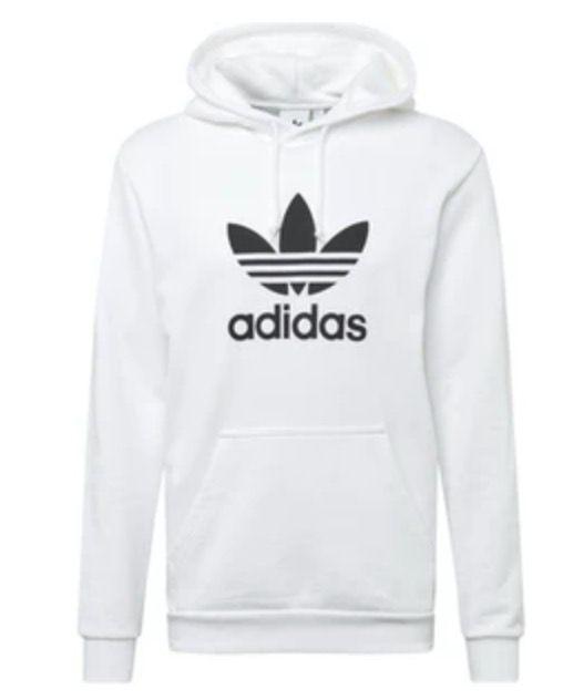 adidas Originals Trefoil Herren Kapuzenpulli in Weiß für 29,99€ (statt 60€)   M, L, XL