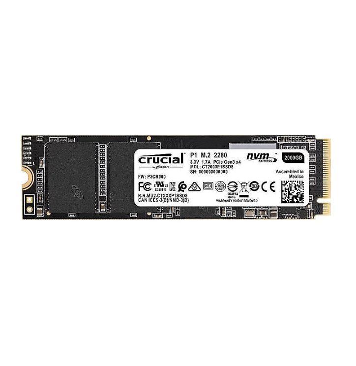 Crucial P1 2TB PCIe NVMe M.2 SSD für 144,90€ (statt 199€)