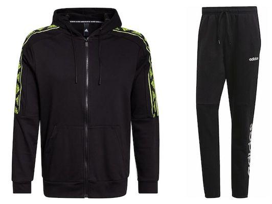 adidas Anzug aus Must Have Stadium GFX Jacke und Fleece Jogginghose für 64,95€ (statt 83€)