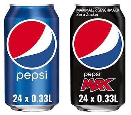 24er Tray Pepsi Cola oder Pepsi Max in der Dose (je 0,33L) für 8,54€ + Pfand
