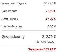 BOSS Slim Fit 2 Knopf Sakko Modell Huge aus Schurwolle in Marineblau für 212,79€ (statt 349€)