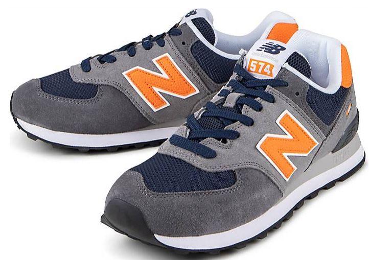 New Balance 574 Retro Sneaker in Grau Orange für 43,98€ (statt 60€)