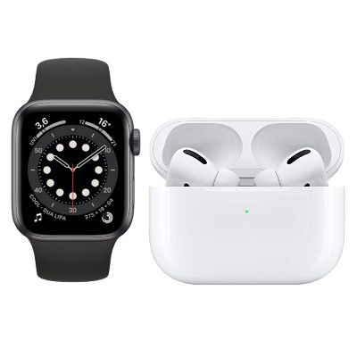 Apple Watch 6 44mm + Airpods Pro für 4,95€ mit Vodafone Allnet-Flat inkl. 15GB LTE für 34,99€ mtl.