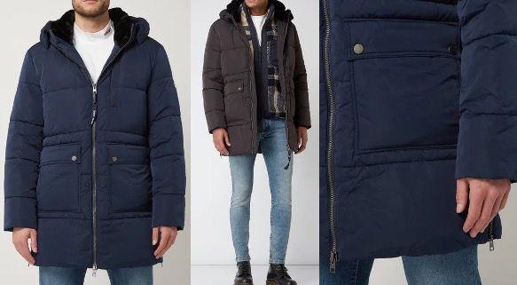 Tommy Hilfiger Jeans Parka mit Wattierung in Schwarz oder Marineblau für 174,79€ (statt 280€)