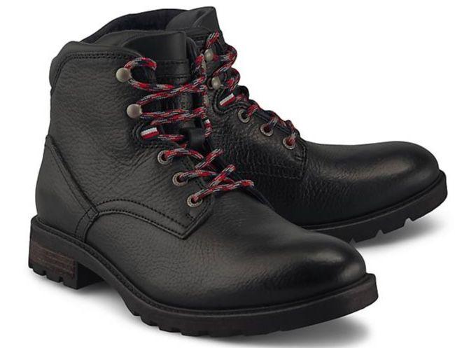 Tommy Hilfiger Textured Lace Up Leder Boots für 61,20€ (statt 100€)