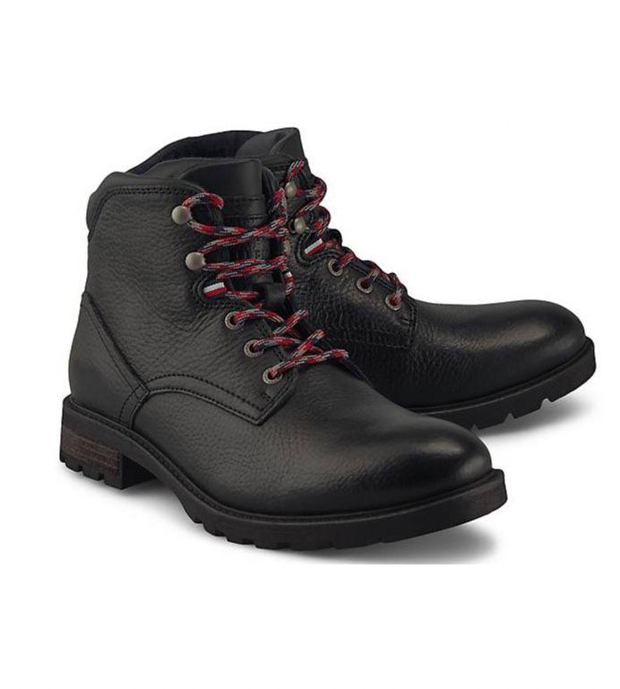 Tommy Hilfiger Textured Lace-Up Leder-Boots für 61,20€ (statt 100€)