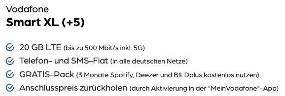 Apple iPhone 12 128GB für 89,95€ + Vodafone Flat mit 20GB (mit 5G) LTE für 44,99€ mtl. + Powerbank gratis
