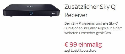 Zweiter Sky Q Receiver für 111,90€ (statt sonst 181€)   auch Bestandskunden
