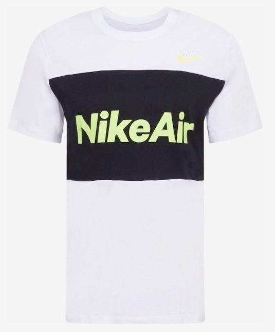 Nike Air T Shirt mit gelbem Schriftzug für 12,53€(statt 20€)