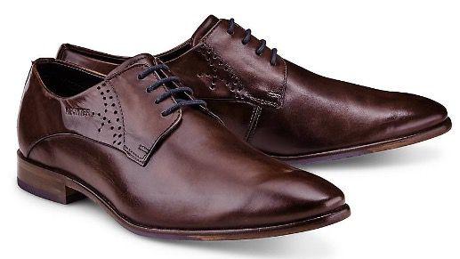 Daniel Hechter Business Herren Leder Schuhe in Braun für 43,98€ (statt 68€)