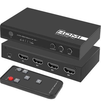 RUMIA HDMI Switch 3x1 4K mit 3 Ports mit automatischer Umschaltung für 29,99€ (statt 50€)