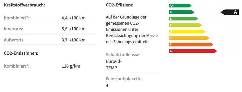 Gewerbe: Skoda Octavia Combi RS PLUS 2.0 TDI mit 200PS in Stahl Grau für 169€ netto   LF 0,56