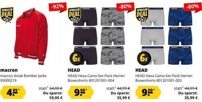 Schnell! 🔥 SportSpar Restgrößen Sale mit Artikeln ab je nur 1,35€