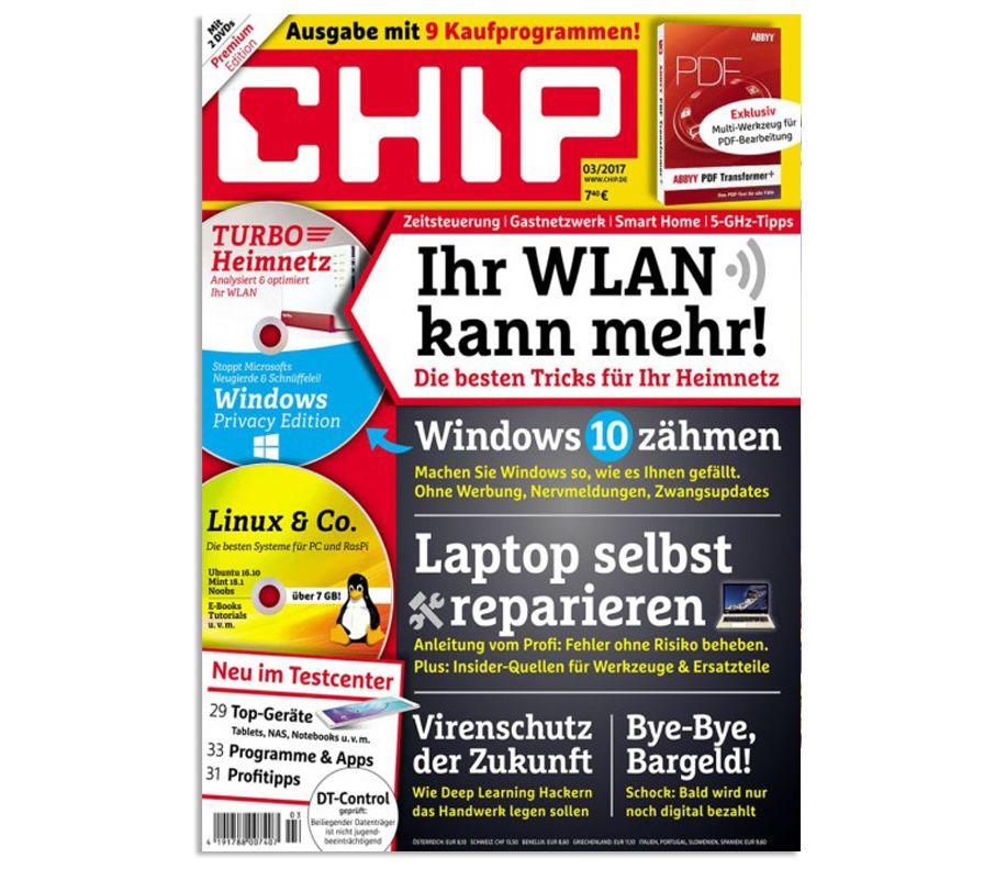 12 Ausgaben Chip Plus für direkt reduzierte 29,90€ (statt 93€)